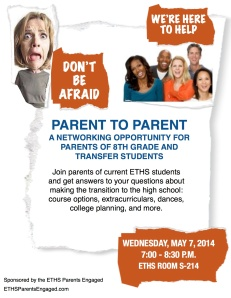 Parent to Parent Meeting 2014